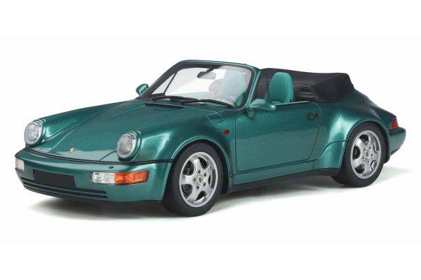GT SPIRIT 1/18scale Porsche 911 (964) Convertible Turbo Look (Green)  [No.GTS294]