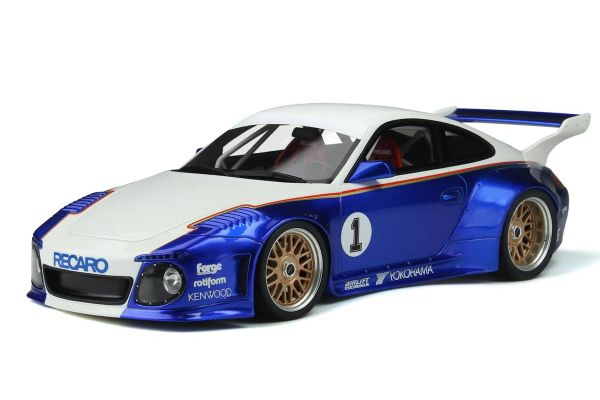 GT SPIRIT 1/18scale Old & New Body Kit (White / Blue / # 1)  [No.GTS797]