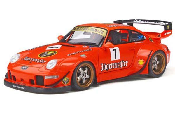 GT SPIRIT 1/18scale RWB 993 (Orange / Jagermeister) Asia Exclusive Limited to Japan: 250  [No.GTS039KJ]