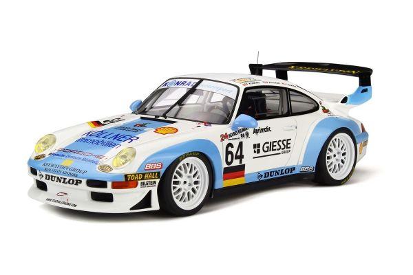 GT SPIRIT 1/18scale Porsche 911 GT2 LeMans 1999 (White / Blue)  [No.GTS753]