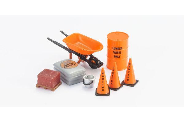 HOBBY GEAR 1/24scale Construction 1 [ オイルドラム缶、ネコ、セメント、コーン、レンガ ] [No.HB16054]