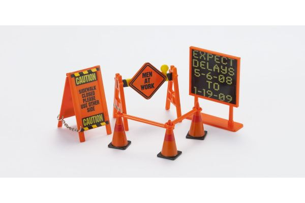 HOBBY GEAR 1/24scale Road Sign (Construction Sign + Corn)  [No.HB16058]