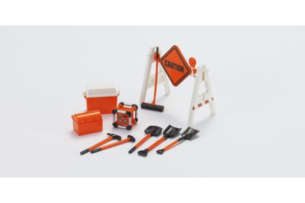 HOBBY GEAR 1/24scale Construction 2 (Road Sign/ Generator/ Cooler Box/ Scoop/ etc.)  [No.HB16060]