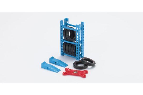 HOBBY GEAR 1/24scale Garage Gear 2 [ ラック式ブロック、スライダー、フロアランプ、タイヤ ] [No.HB16061]