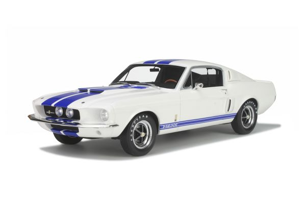 OttO mobile 1/12scale Ford Mustang Shelby GT500 limited 999pcs White / Blue line [No.OTMG022]
