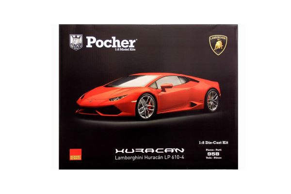 Pocher 1/8scale Lamborghini Huracan LP610-4 assembly kit Rosso mars(Metallic Red) [No.HK105]