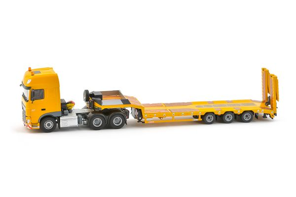 IMC Models 1/50scale DAF Euro 6 SCC 6×4 Euroflex 3 Axle Semi low loader Yellow series  [No.IMC330056]