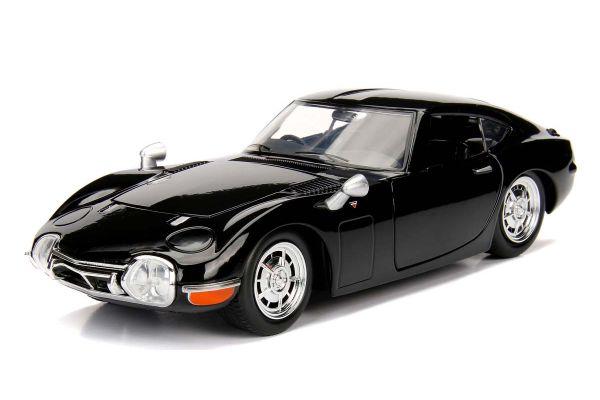 JADA TOYS 1/24scale 1967 Toyota 2000GT Glossy Black  [No.JADA30447BK]