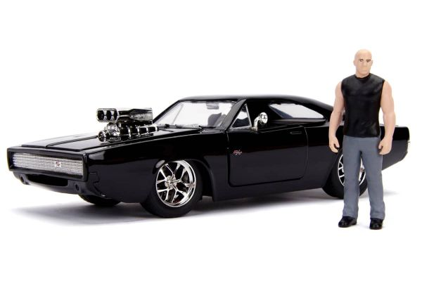 JADA TOYS 1/24scale F&F Dodge Charger Black Dominique Toretto with figure  [No.JADA30737]