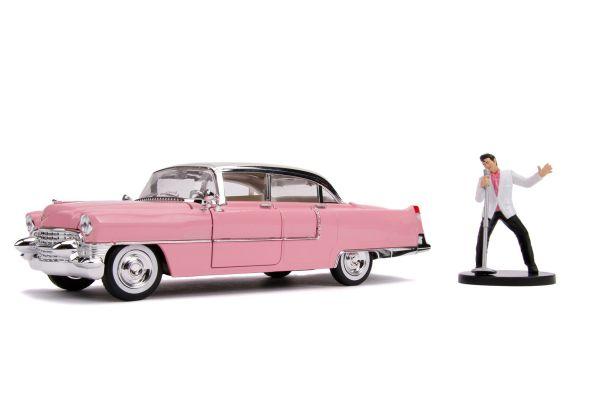 JADA TOYS 1/24scale 1955 Cadillac Fleetwood Elvis Presley with figure  [No.JADA31007]