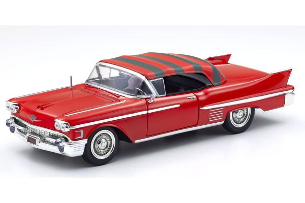 JADA TOYS 1/24scale Cadillac 1958 Freddy Kruger with figure (Nightmare on Elm Street)  [No.JADA31102]