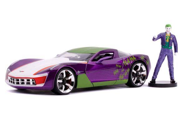JADA TOYS 1/24scale Corvette Stingray 2009 with Joker figure (DC Comics Bombshells)  [No.JADA31199]