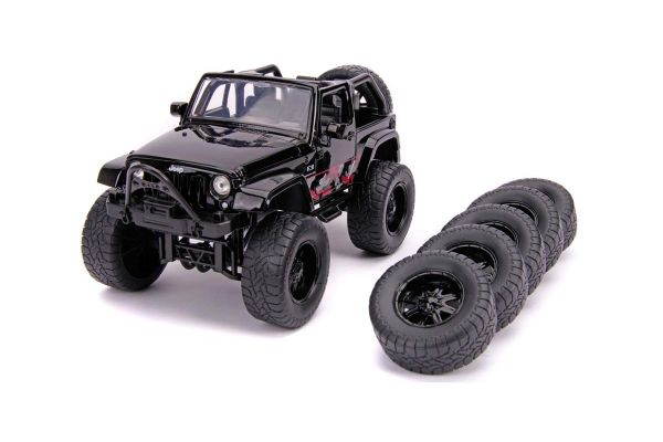 JADA TOYS 1/24scale 2007 Jeep Wrangler (Black / Graphics)  [No.JADA31560]