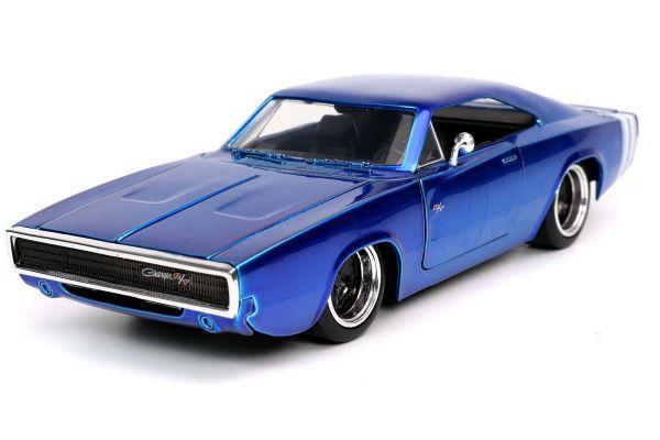 JADA TOYS 1/24scale 1968 Dodge Charger Blue  [No.JADA31865]