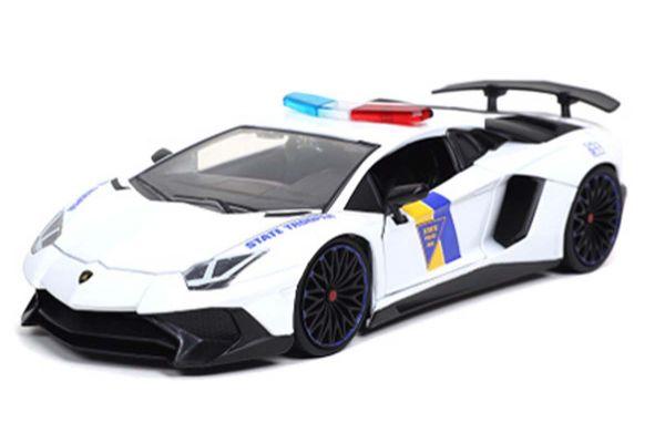 JADA TOYS 1/24scale 2017 Lamborghini Aventador State Police (White)  [No.JADA32276]