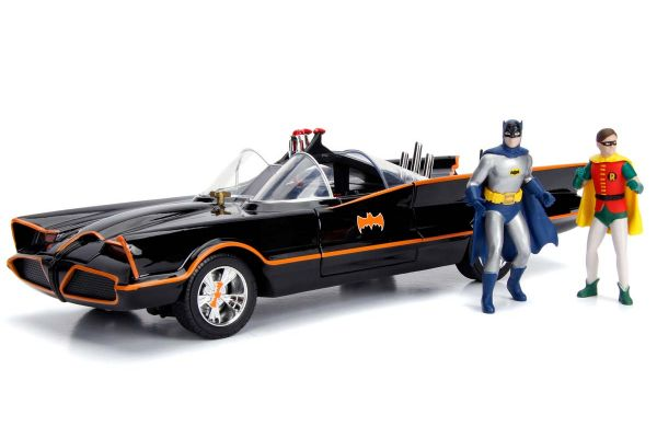 JADA TOYS 1/18scale Batmobile (Classic TV Series) with Batman & Robin figures  [No.JADA98625]