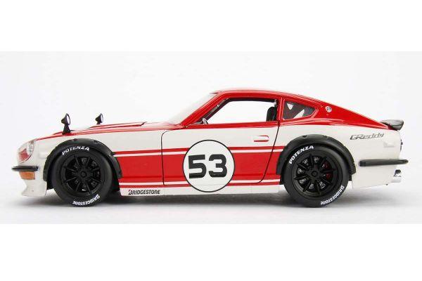 JADA TOYS 1/24scale 1972 Datsun 240Z # 53 Red / White  [No.JADA99100]