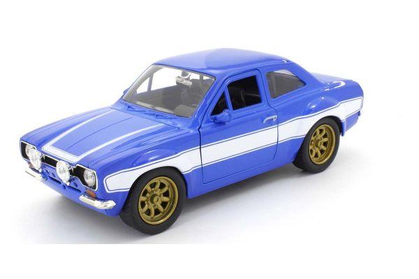 JADA TOYS 1/24scale F & F Ford Escort RS2000 MKI Blue / White (Brian)  [No.JADA99572]