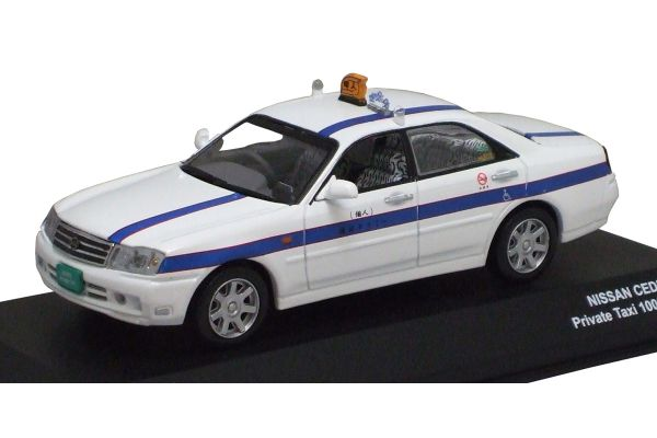 J-COLLECTION 1/43scale Nissan Cedric (Owner-Driver Taxi) White [No.JC02001TX]