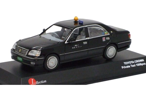 J-COLLECTION 1/43scale Toyota Crown (Owner-Driver Taxi) Black [No.JC10001TX]