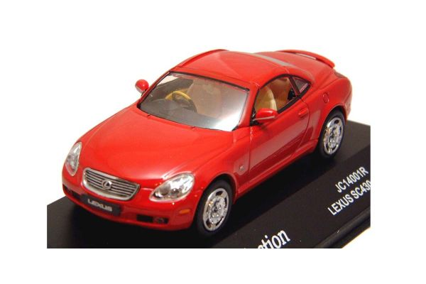 J-COLLECTION 1/43scale Toyota Lexus SC430 Cabriolet (Closed Type) Red [No.JC14001R]