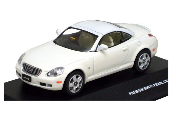 J-COLLECTION 1/43scale LEXUS SC430 2005 (Closed Type) White Pearl Crystal Shine [No.JC14003W]
