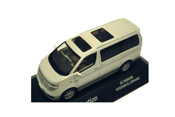 J-COLLECTION 1/43scale Nissan Elgrand Pearl White / Champagne Silver [No.JC16083W]