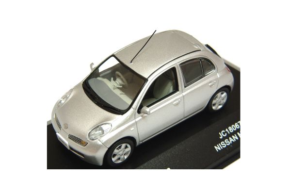 J-COLLECTION 1/43scale Nissan March Diamond Silver [No.JC18067S]
