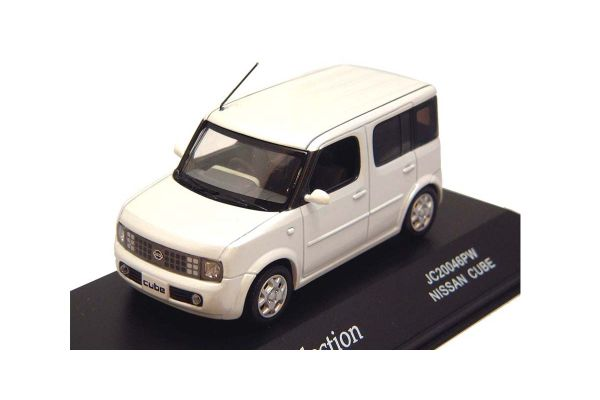 J-COLLECTION 1/43scale Nissan Cube Pearl White [No.JC20046PW]