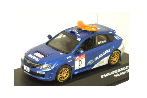 J-COLLECTION 1/43scale SUBARU IMPREZA WRX / 0 Car(No.0)  Rally Japan 2008 S.KONISHI Blue [No.JC29016RL]
