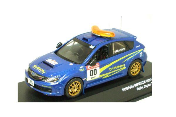 J-COLLECTION 1/43scale SUBARU IMPREZA WRX / 0 Car(No.0) Rally Japan 2007 S.KONISHI Blue [No.JC29017RL]