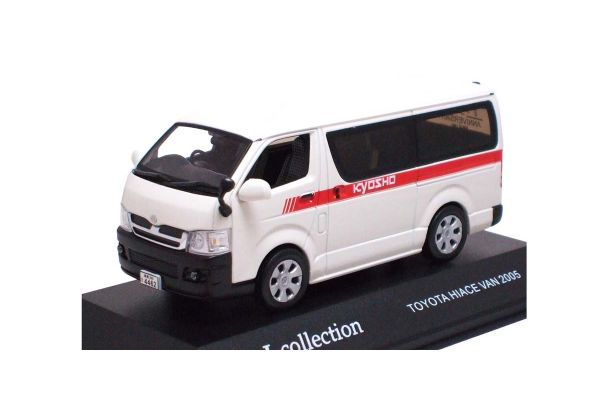 J-COLLECTION 1/43scale Toyota Hiace 2004 Kyosho Business car specification (15th Anniv Model) White [No.JC35002KK]