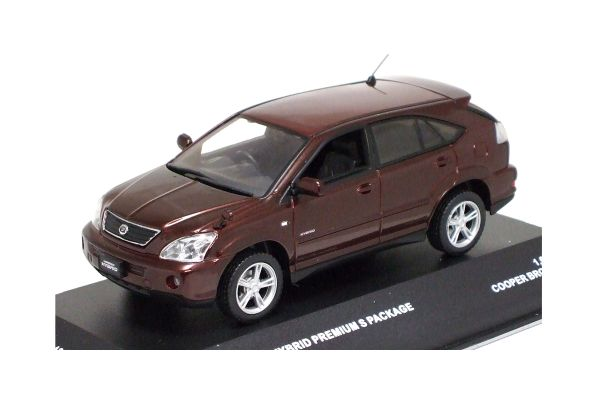 J-COLLECTION 1/43scale TOYOTA Harrier Hybrid Premium S Package 2006 Copper Brown Mica [No.JC42001BR]