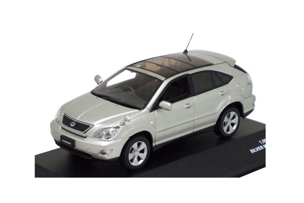 J-COLLECTION 1/43scale TOYOTA Harrier Airs 2006 Silver Metallic [No.JC42013SL]