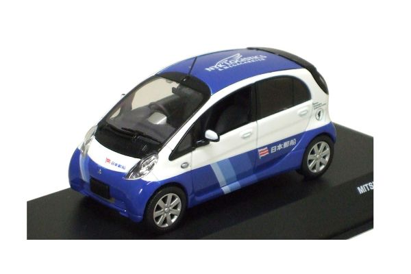 J-COLLECTION 1/43scale MITSUBISHI  i-MiEV Nippon Yusen Blue /White [No.JC59010NY]