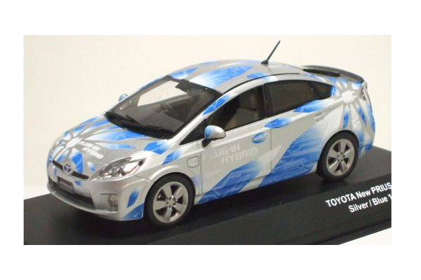 J-COLLECTION 1/43scale TOYOTA NEW PRIUS PLUG-IN Silver/Blue [No.JC61003PG]