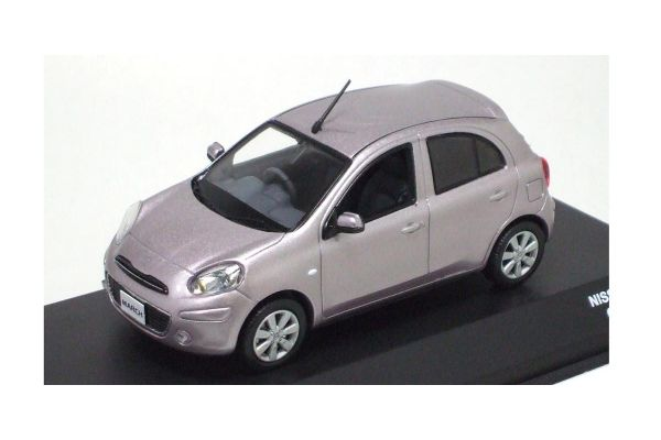 J-COLLECTION 1/43scale NISSAN MARCH (Crystal Lilac)  Pinkish Silver [No.JC65003LL]