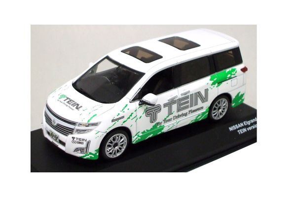 J-COLLECTION 1/43scale NISSAN ELGRAND TEIN VERSION WHITE/GREEN [No.JC66003TE]