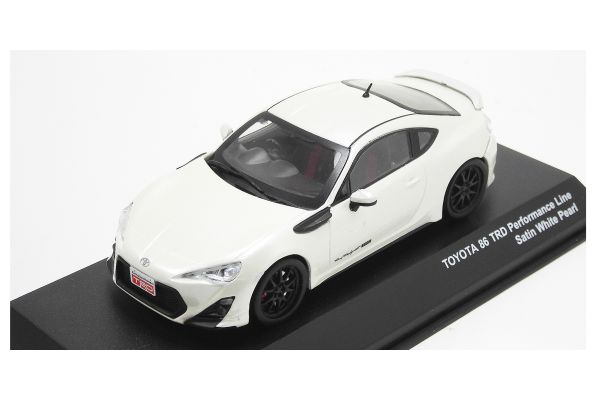 J-COLLECTION 1/43scale TOYOTA 86 TRD Performance Line Satin White Pearl [No.JCP73014WH]