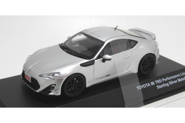J-COLLECTION 1/43scale TOYOTA 86 TRD Performance Line SF2 wheel Starling silver metallic [No.JCP73017SL]