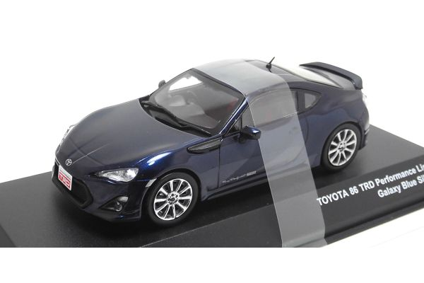J-COLLECTION 1/43scale TOYOTA 86 TRD Performance Line TF6 wheel Galaxy blue Silica [No.JCP73018BL]