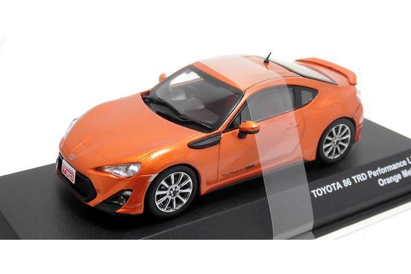 J-COLLECTION 1/43scale TOYOTA 86 TRD Performance Line TF6 wheel Orange metallic [No.JCP73019OR]