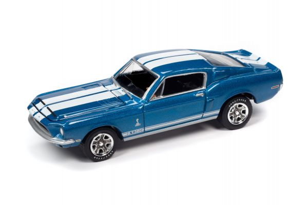 JOHNNY LIGHTNING 1/64scale 1968 Shelby GT350 Blue  [No.JLCT005B3BL]