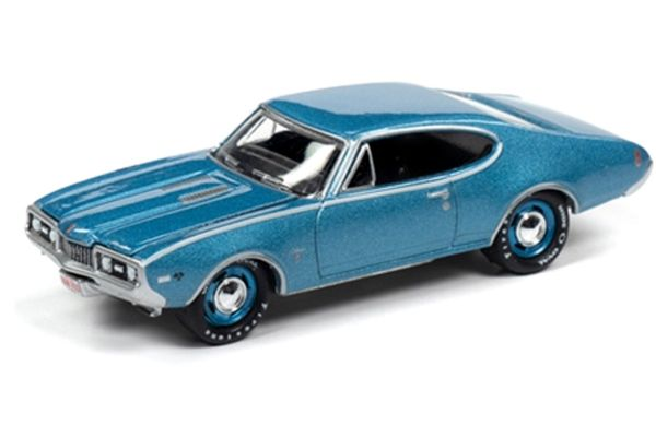 JOHNNY LIGHTNING 1/64scale 1968 Oldsmobile Cutlass W31 Ram Rod 350 (Sapphire Blue)  [No.JLMC022A6BL]