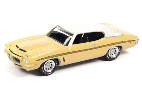 JOHNNY LIGHTNING 1/64scale 1972 Pontiac GTO Mannerk Yellow / White  [No.JLMC024A4Y]