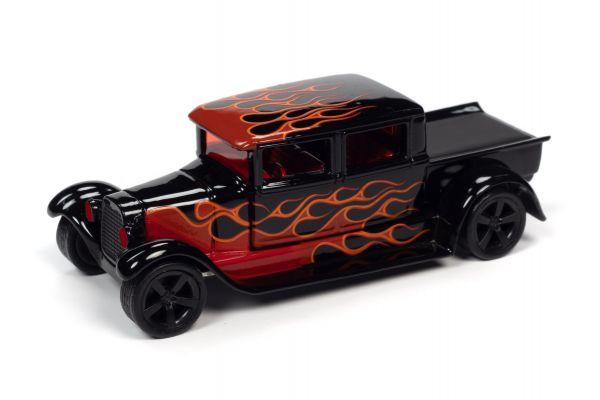 JOHNNY LIGHTNING 1/64scale 1929 Ford Crew Cab Truck Black (Black / Frames)  [No.JLSF017A2BK]