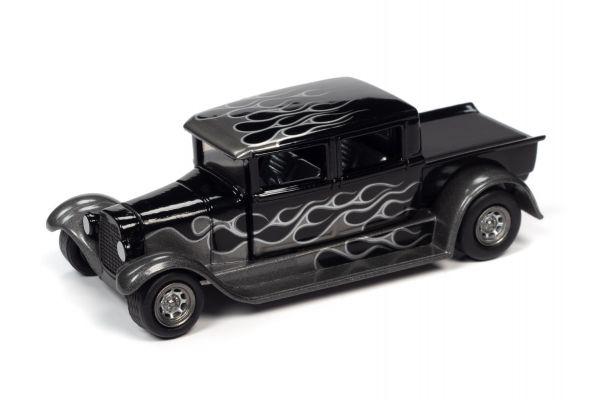 JOHNNY LIGHTNING 1/64scale 1929 Ford Crew Cab Truck Black (Black / Frames)  [No.JLSF017B2BK]