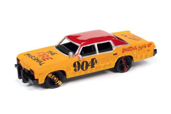 JOHNNY LIGHTNING 1/64scale 1974 Dodge Monaco Orange & Red (Demolition Derby)  [No.JLSF017B5Y]