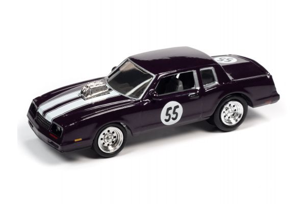 JOHNNY LIGHTNING 1/64scale 1985 Chevy Monte Carlo Deep Violet  [No.JLSF018A3V]
