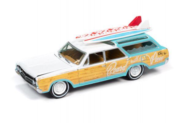 JOHNNY LIGHTNING 1/64scale 1964 Oldsmobile Vista Cruiser White / Seafoam  [No.JLSF018A5W]